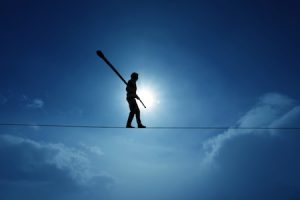 Work life balance on tightrope