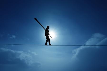 Work life balance on tightrope