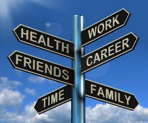 Work-life balance: signpost